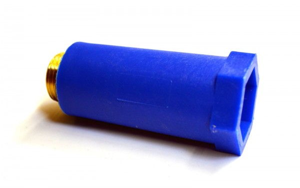 "Baustopfen Kunststoff 1/2"" Messing blau oder rot Paket a 5 Stück"