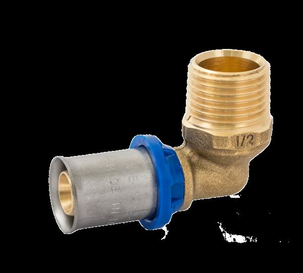 BV Press Übergangswinkel 90° AG blauer Ring
