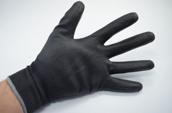 24 PAAR PU-Handschuhe schwarz