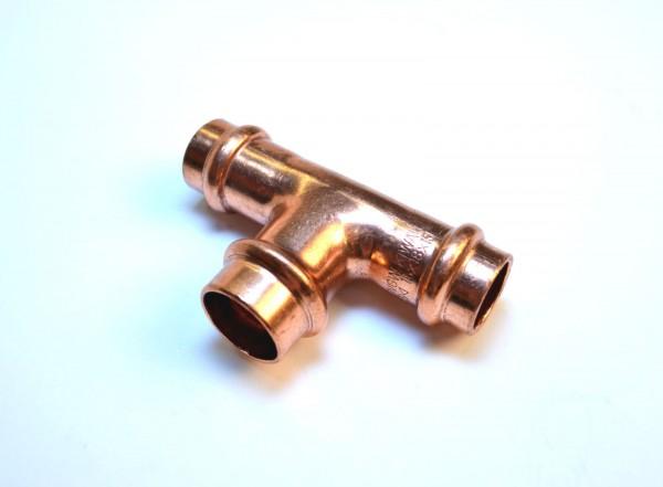 Kupfer Pressfitting T-Stück reduziert