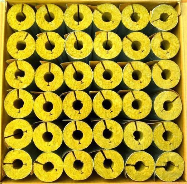 Rohrschalen alukaschiert aus Steinwolle voller Karton