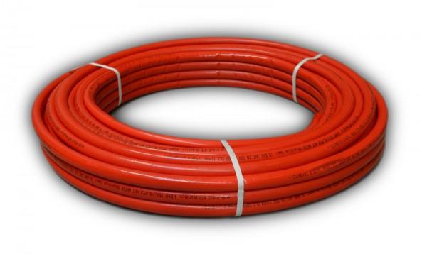 50 m Rolle ROT Mehrschichtverbundrohr PEXB/AL/PEXB 16x2 mm 20x2 mm isoliert DVGW zertifiziert