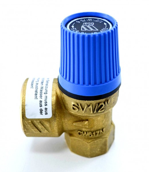 """Sicherheitsventil für Wasser blau SVW 1/2"""""""