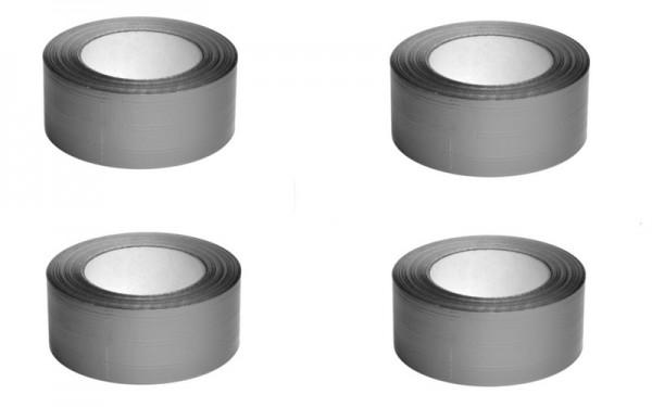 4 Stück Gewebeklebeband silber 48 mm breit x 50 m lang